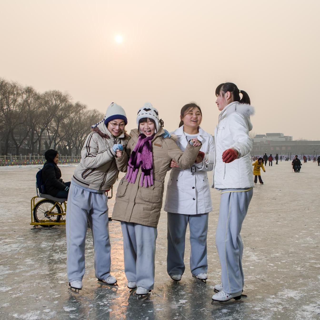 The Frozen lake of Beijing