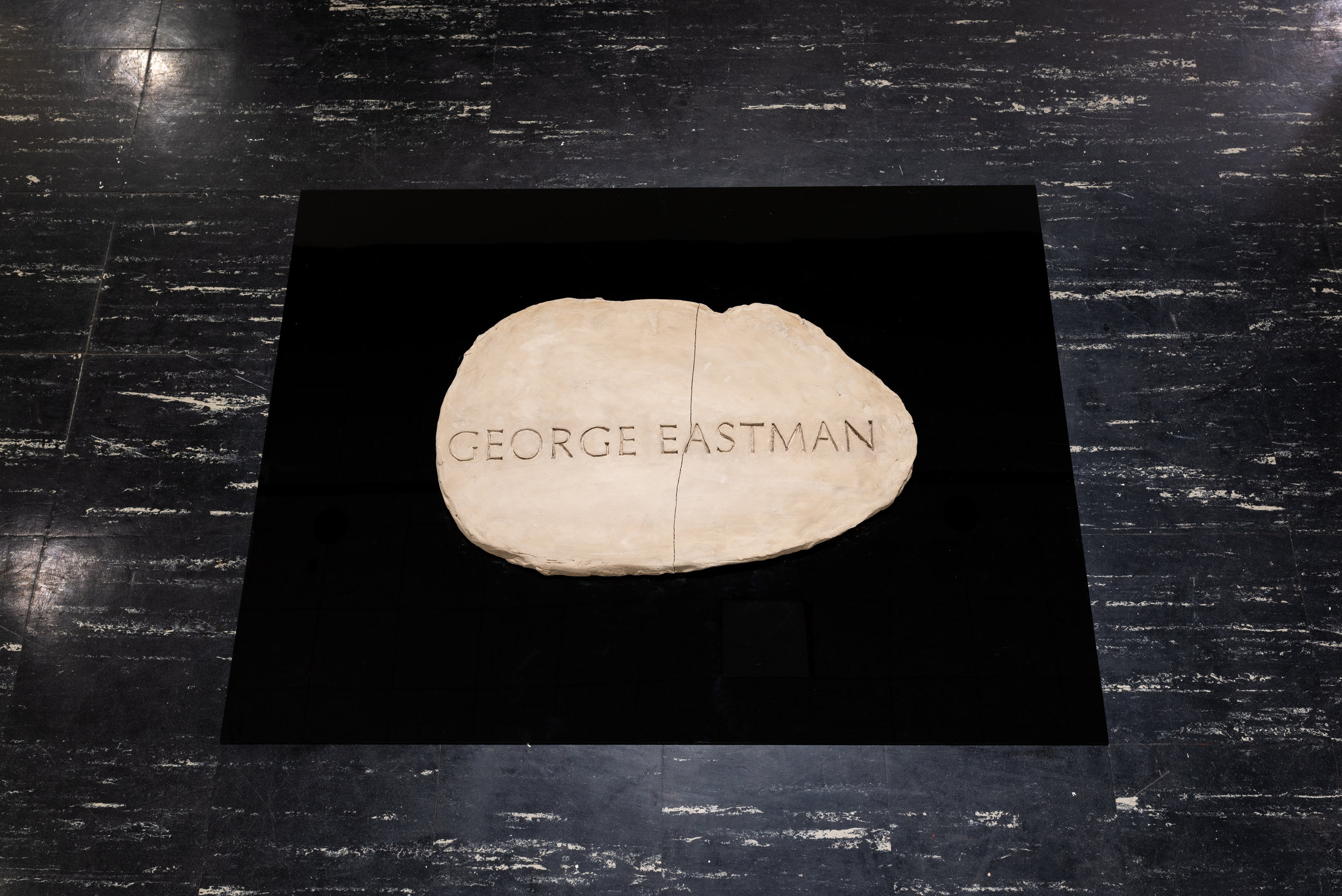 George Eastman Stone (2019) ceramic and acrylic
