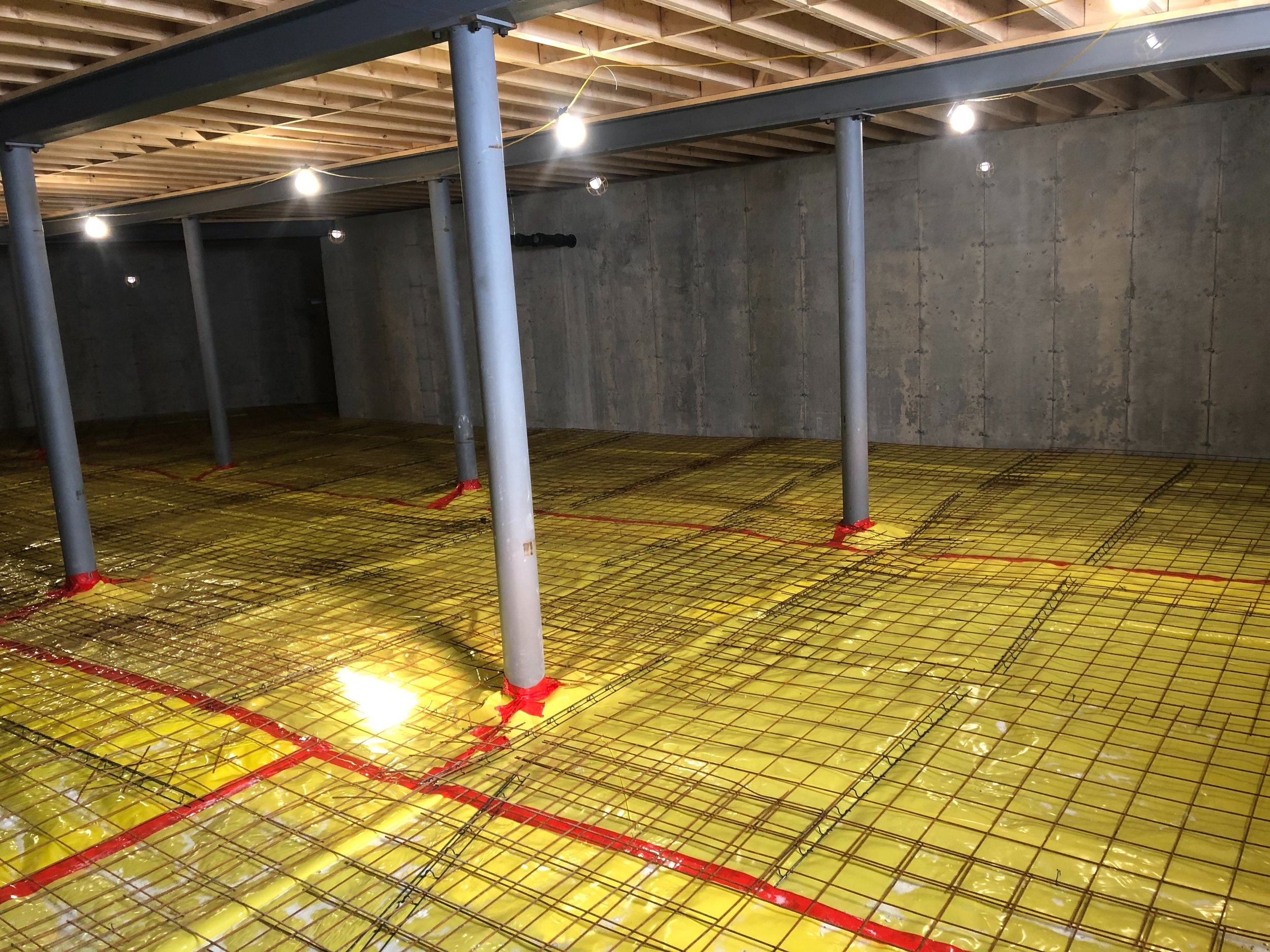 BASEMENT IS ALL READY FOR THURSDAY'S POUR.