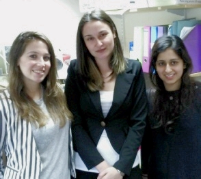 From L: Julia Spiesberger, Angelina Andonova and Amnah Ahmed