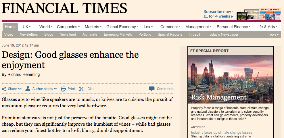 Financial Times,  June 2012