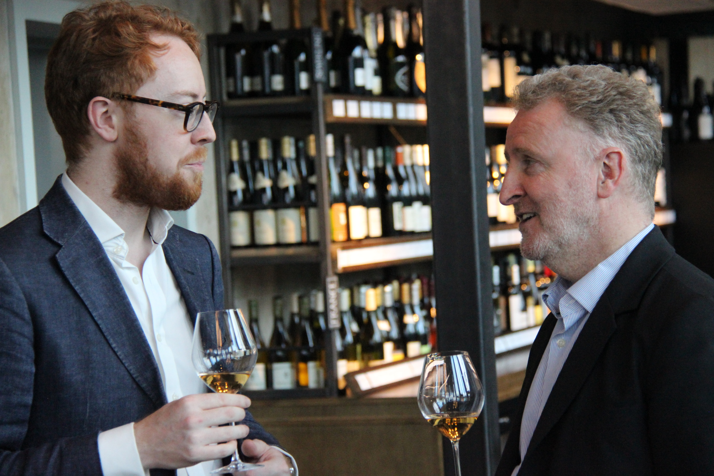 Alex Hunt's resplendent beard brought along its owner, seen here talking to fellow philosopher Barry Smith