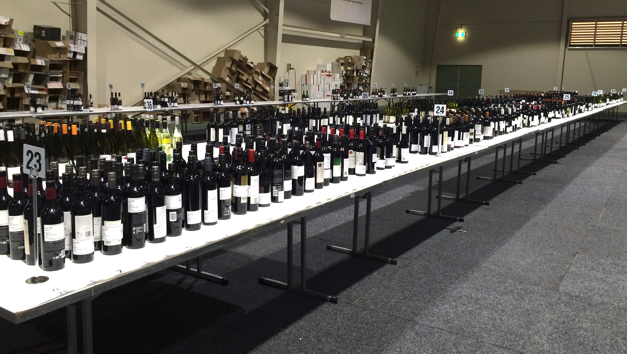 Behind the scenes at the National Wine Show in Canberra