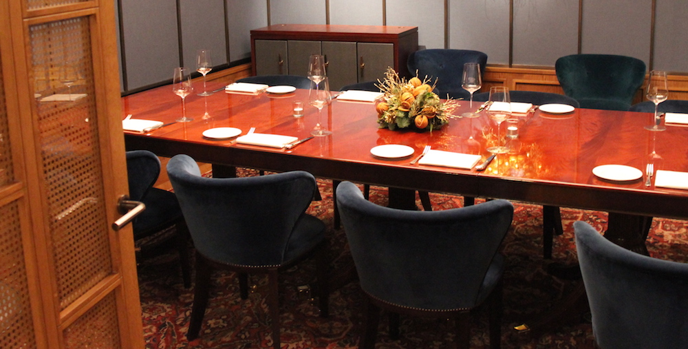 The Lutyens private dining room at 67 Pall Mall