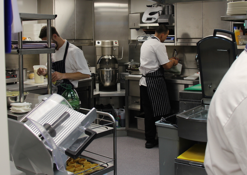 Chefs at work in 67 Pall Mall's brand new kitchen