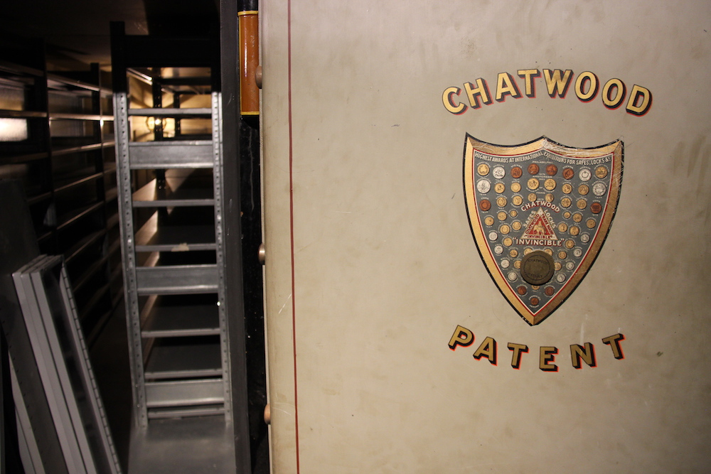 The most valuable wines will be stored in the old bank vault