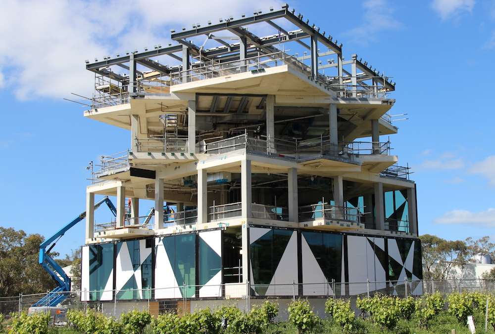 The Cube at d'Arenberg, McLaren Vale: a new visitors centre and restaurant, due to be opened next year