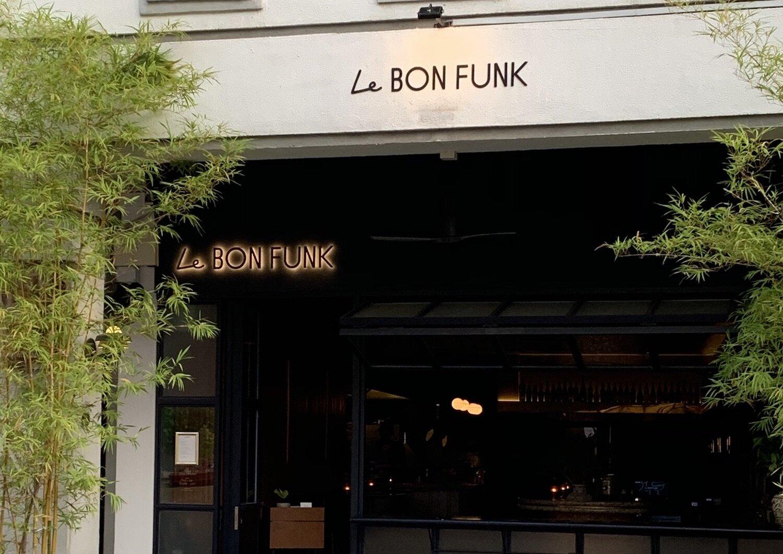 The exterior of Le Bon Funk, on Singapore's super-trendy Club Street