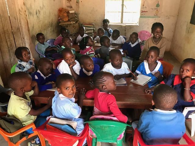 Kindergarten at Shangilia Orphanage.