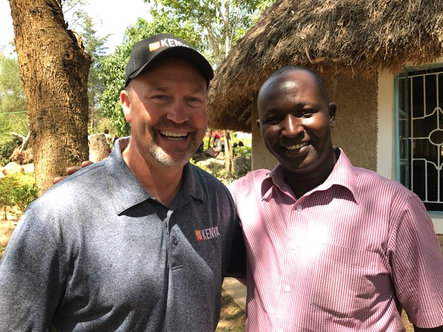 Pastor Randy Stensgard with the Moderator (President) of the Evangelical Covenant Church of Kenya. It was great to reconnect with Simon again and hear of the amazing thing God is doing through the Covenant Churches in Kenya.
