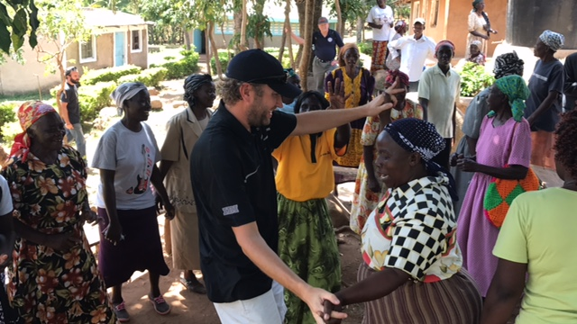 Matt dancing with the widows.