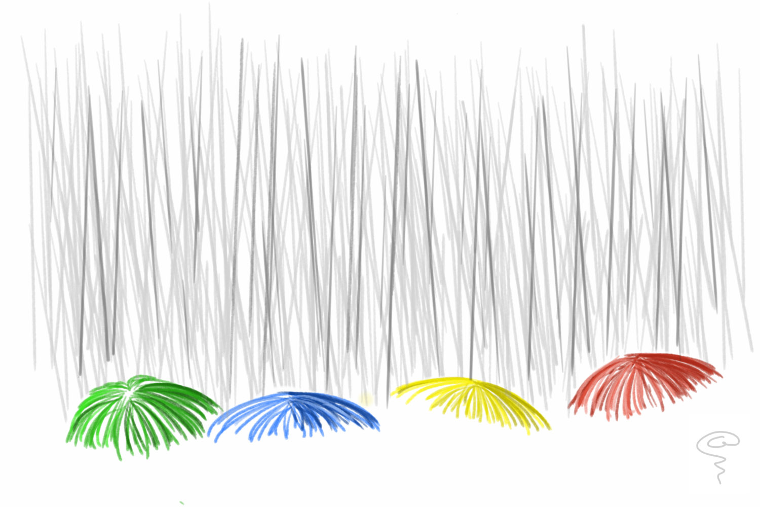 SK018-Colourful Umbrellas