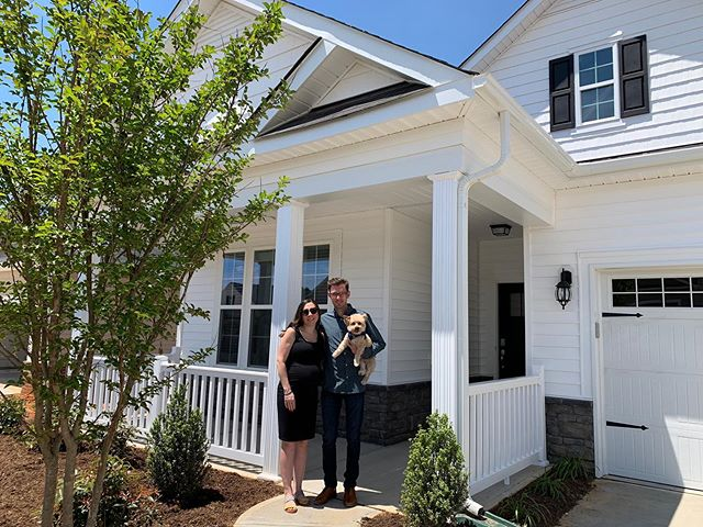 Today we adulted real hard and finally closed on our home we've been working on for months! I love you @davidalberico ❤️🐶🏡