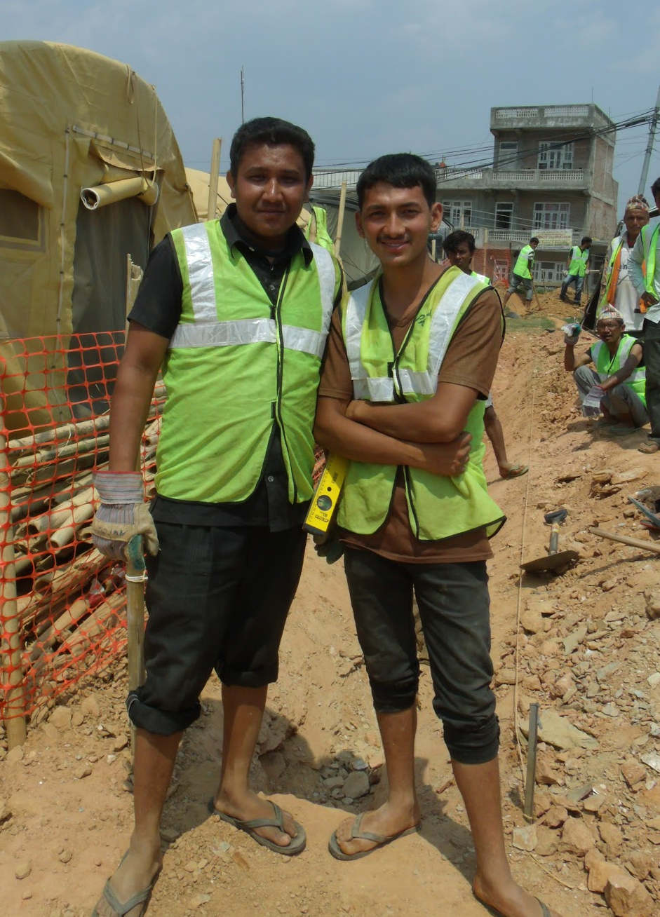 """""""Money the biggest challenge, to rebuild houses. Water supply big challenge, Earthquake                  destroyed the pipes, we're having to travel further to get water""""                Prakash and Pralhad BK, Chautara, Sindhupalchok 8.7.15"""