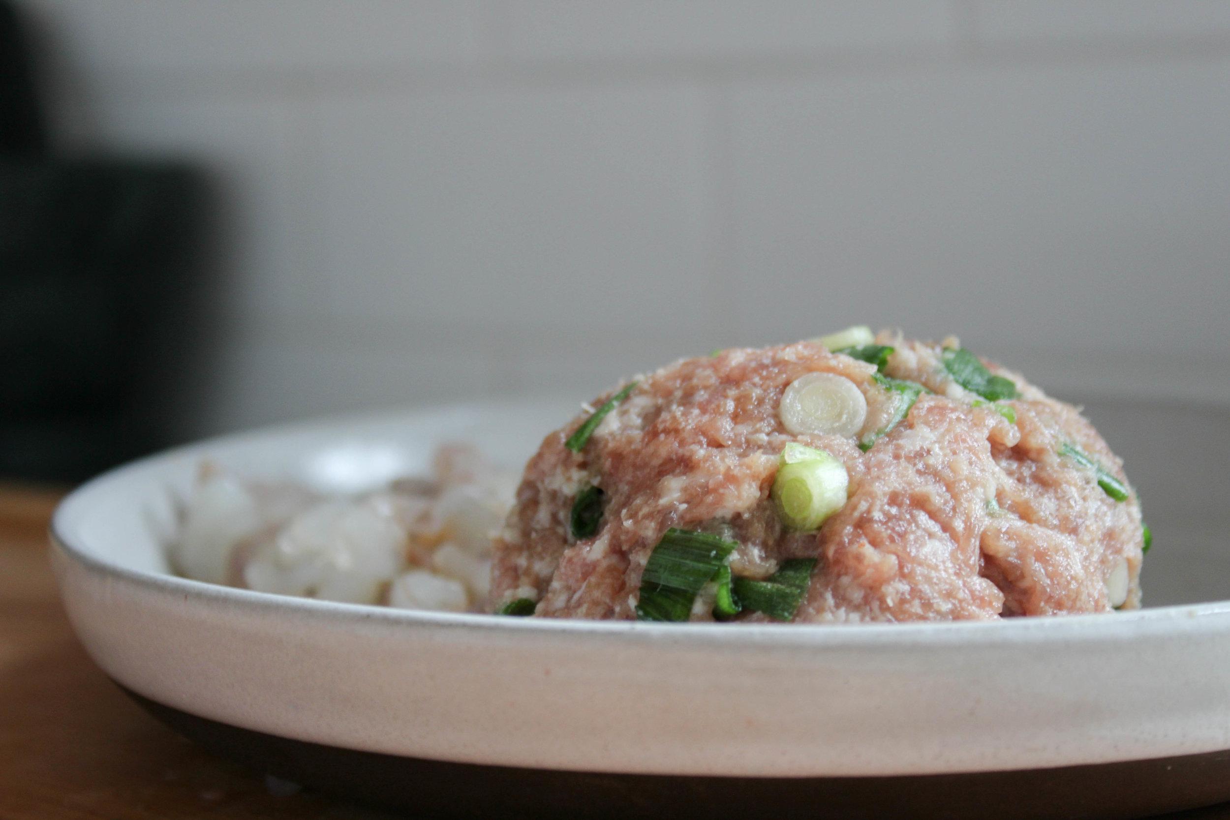 pork filling for shrimp and pork wontons