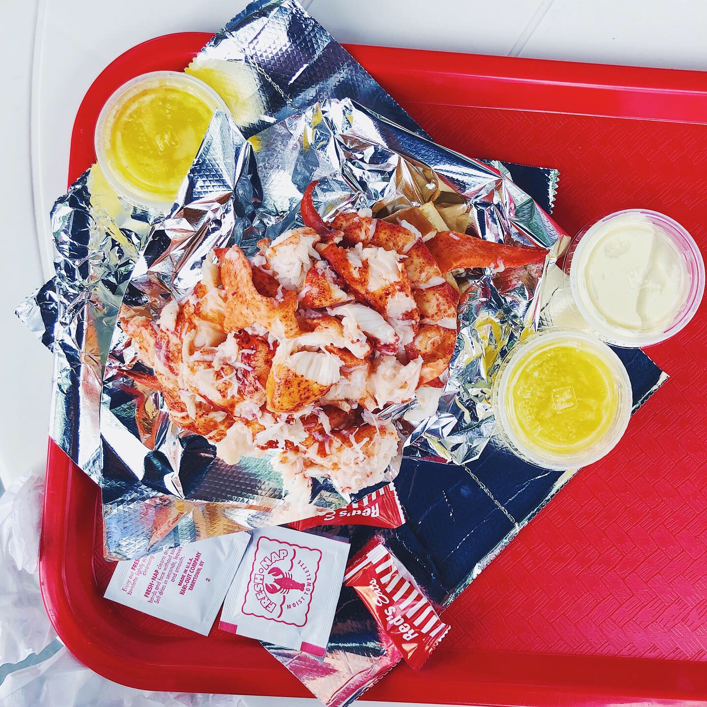 Red Eats Lobster Maine Best Lobster Roll in World