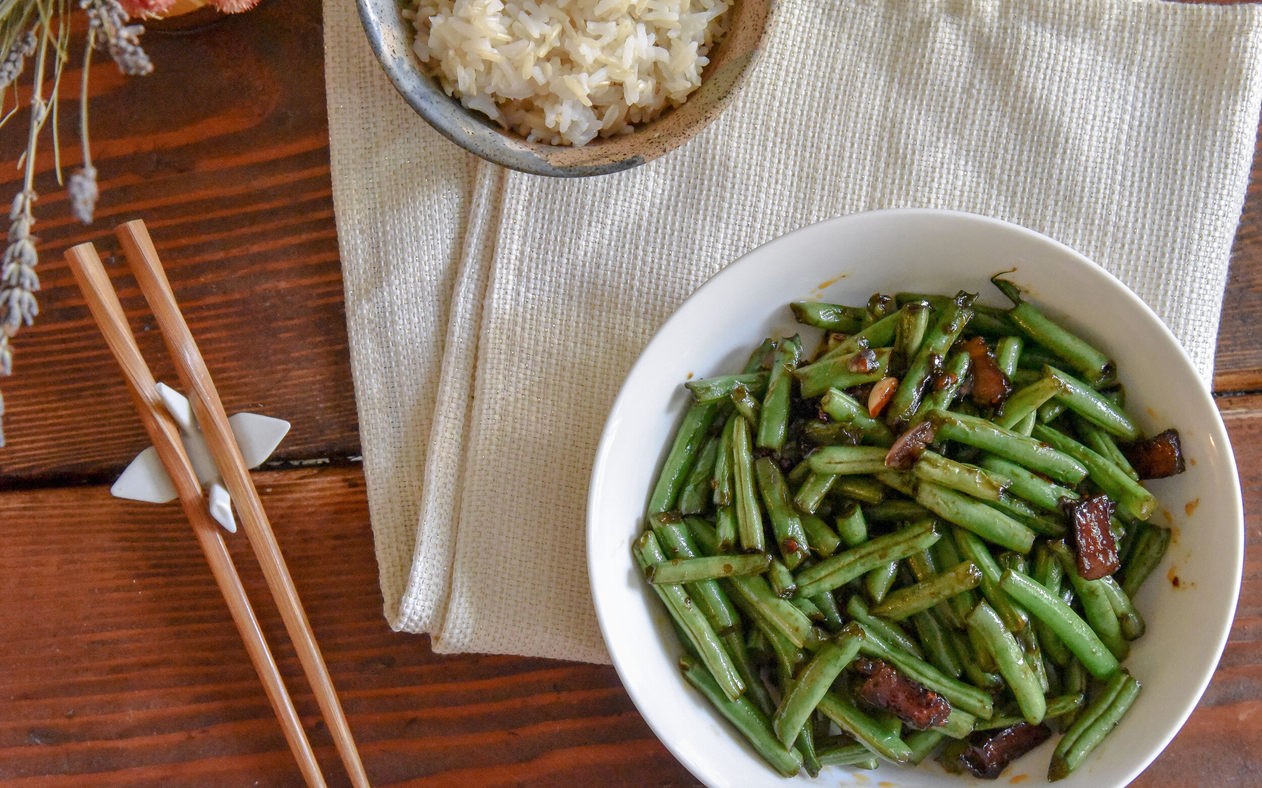 Chinese stir fry green beans