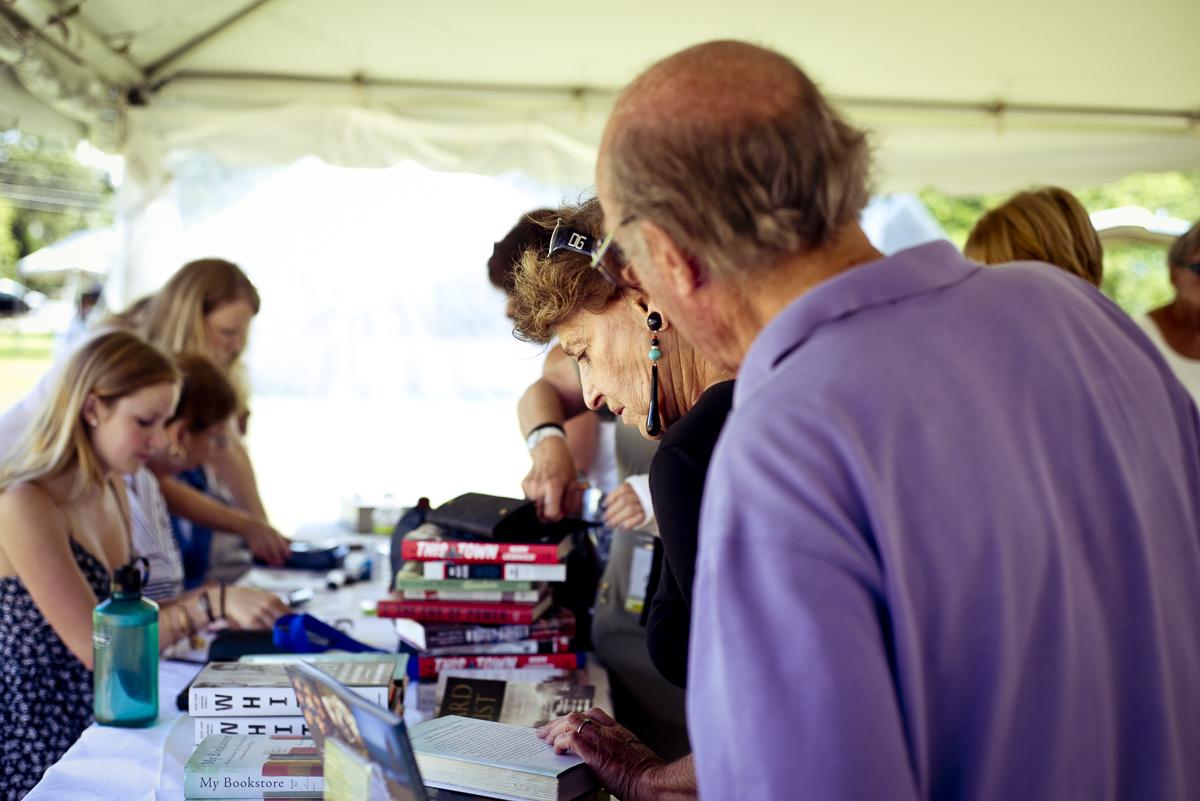 Book sales tent 2013. credit Gabriela Herman.jpg