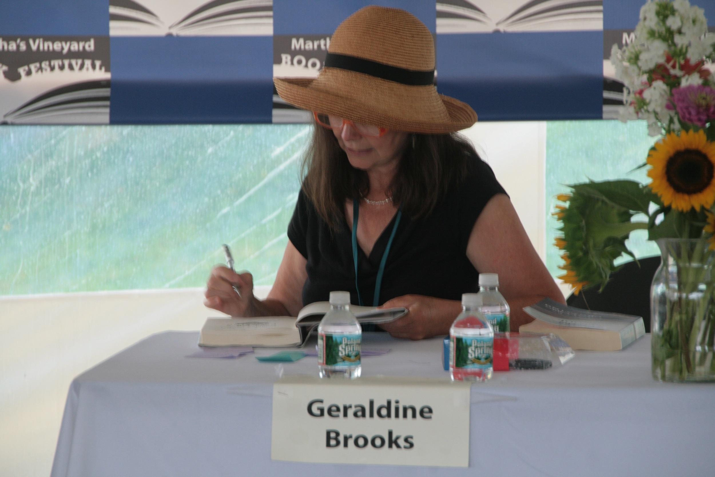MVBF 2011 - Geraldine Brooks signing.jpg