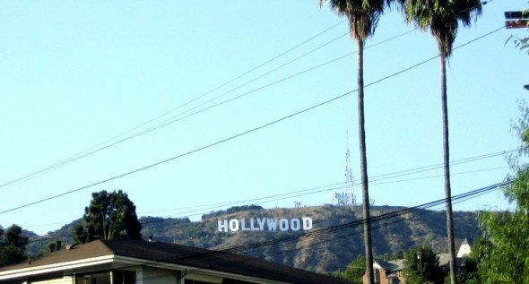 """Driving through the Hollywood Hills, I just HAD to stop and snap a picture of """"The Sign"""" because it was so surreal that I was there!"""