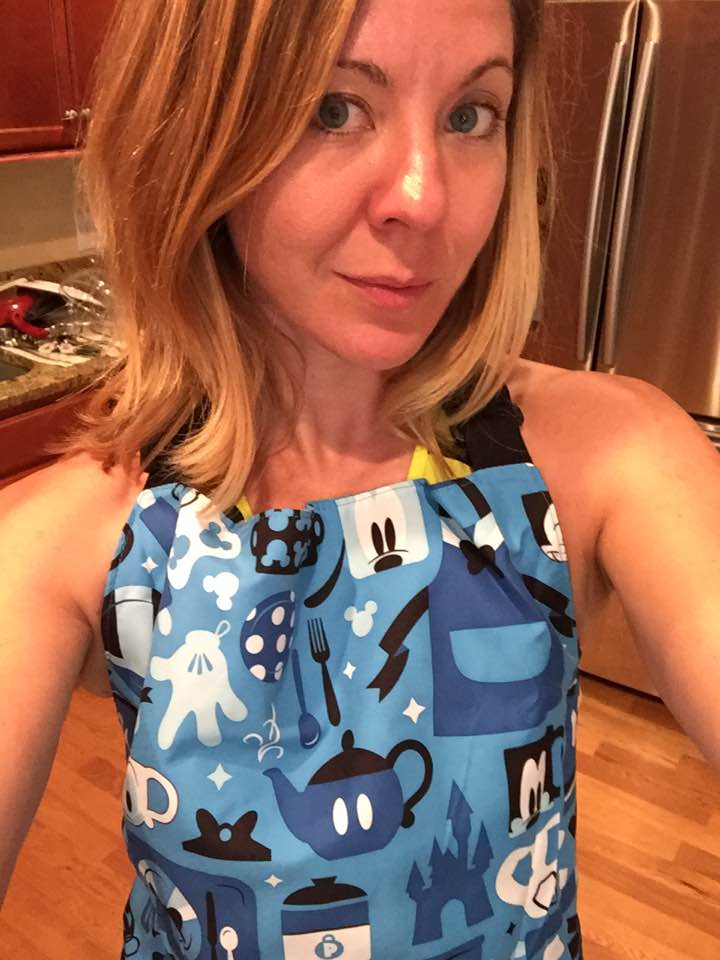 Look who's wearing a Disney apron cooking a recipe from the Disney cookbook?WHO AM I?!