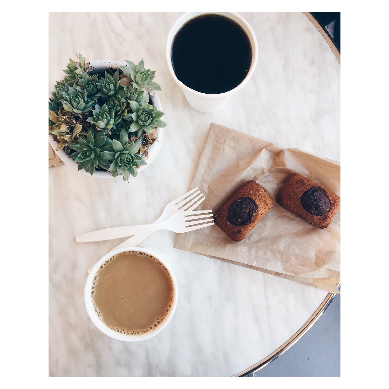 Coffee and Financiers in San Francisco