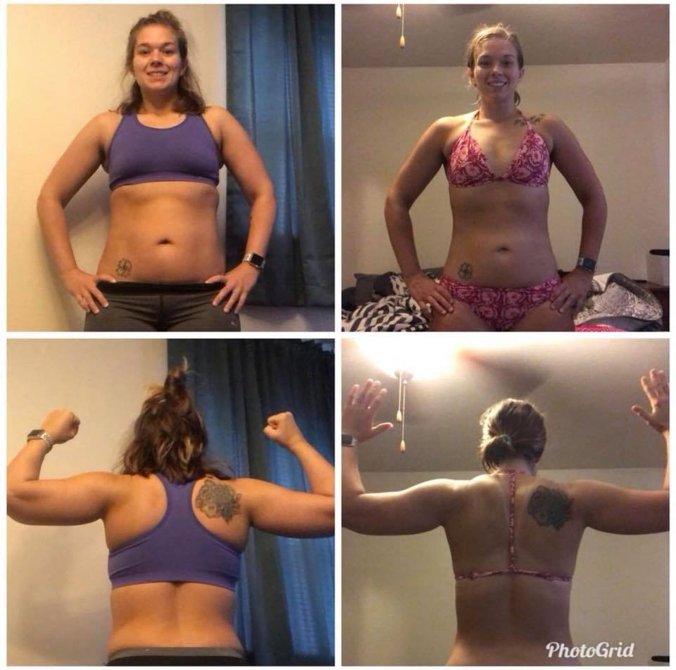 4-5 months results: 15 pound weight loss. Lean muscle gained. No more food obsession. We helped her get started by finding her fat loss formula in Fat Loss Cooking School, but she did the hardest part: she took what she learned and started practicing it. Then she kept going, and she isn't stopping any time soon!