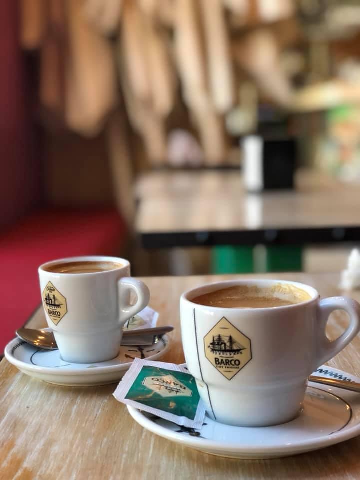 His: Cortado. Hers: Espresso con Leche - Sevilla, Spain