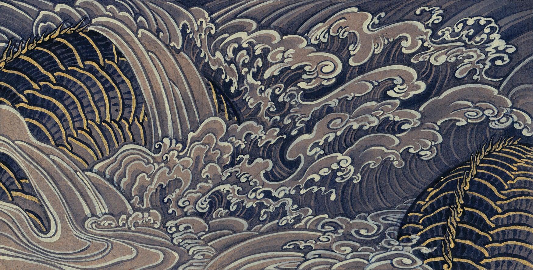 Untitled (hidden dragon) . 2014 - acrylic on wood.