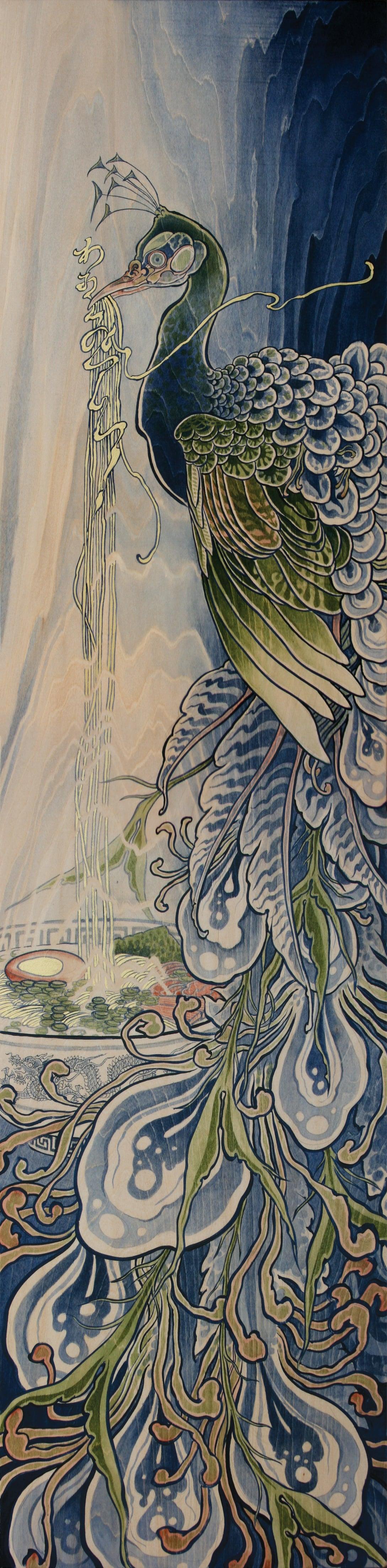 Wa, Oishii desu!  2011 - acrylic on wood. 5' x 2'.