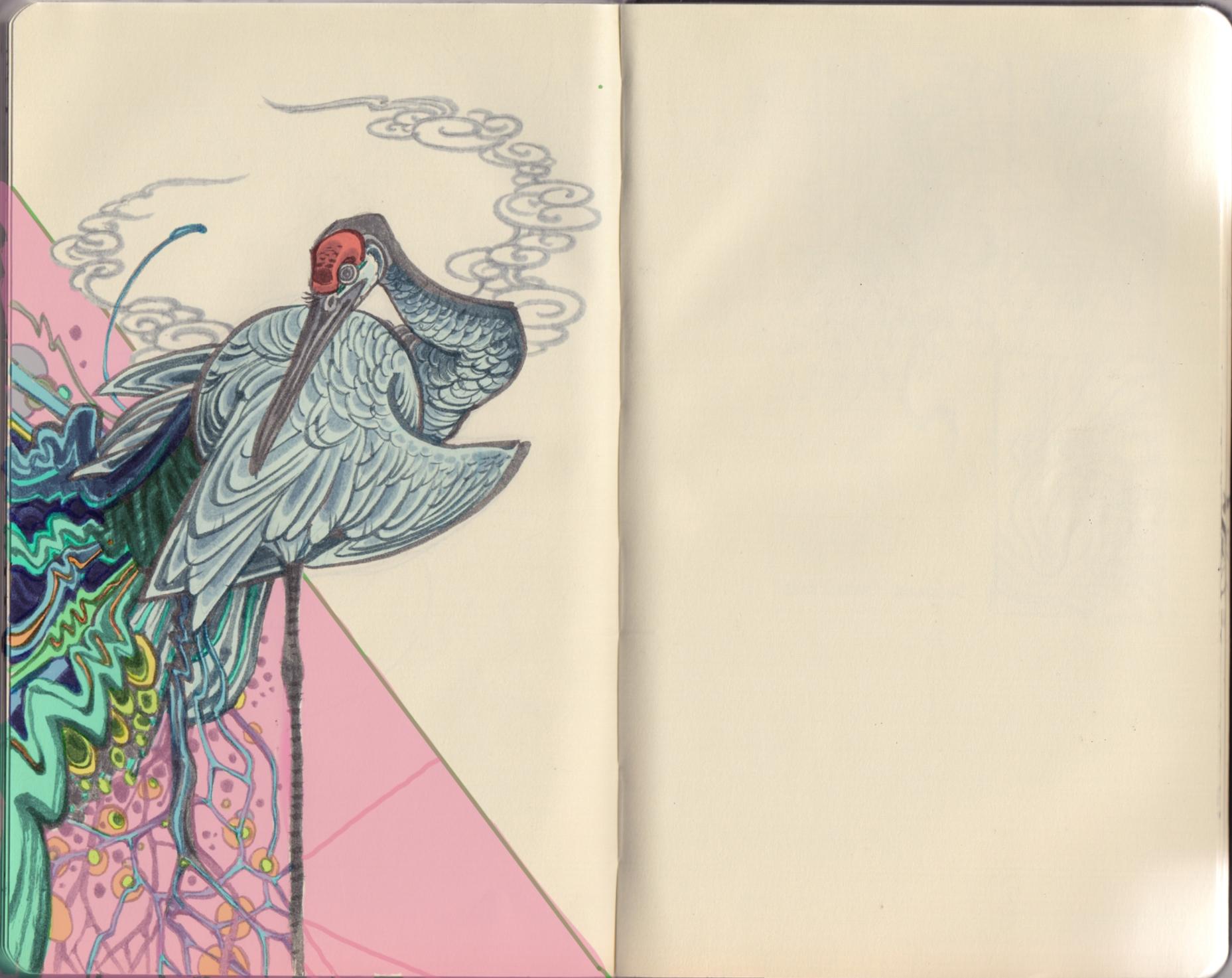 Sketchbook selection, digital coloring.2016.