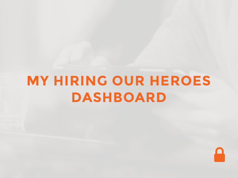 My Hiring Our Heroes Dashboard