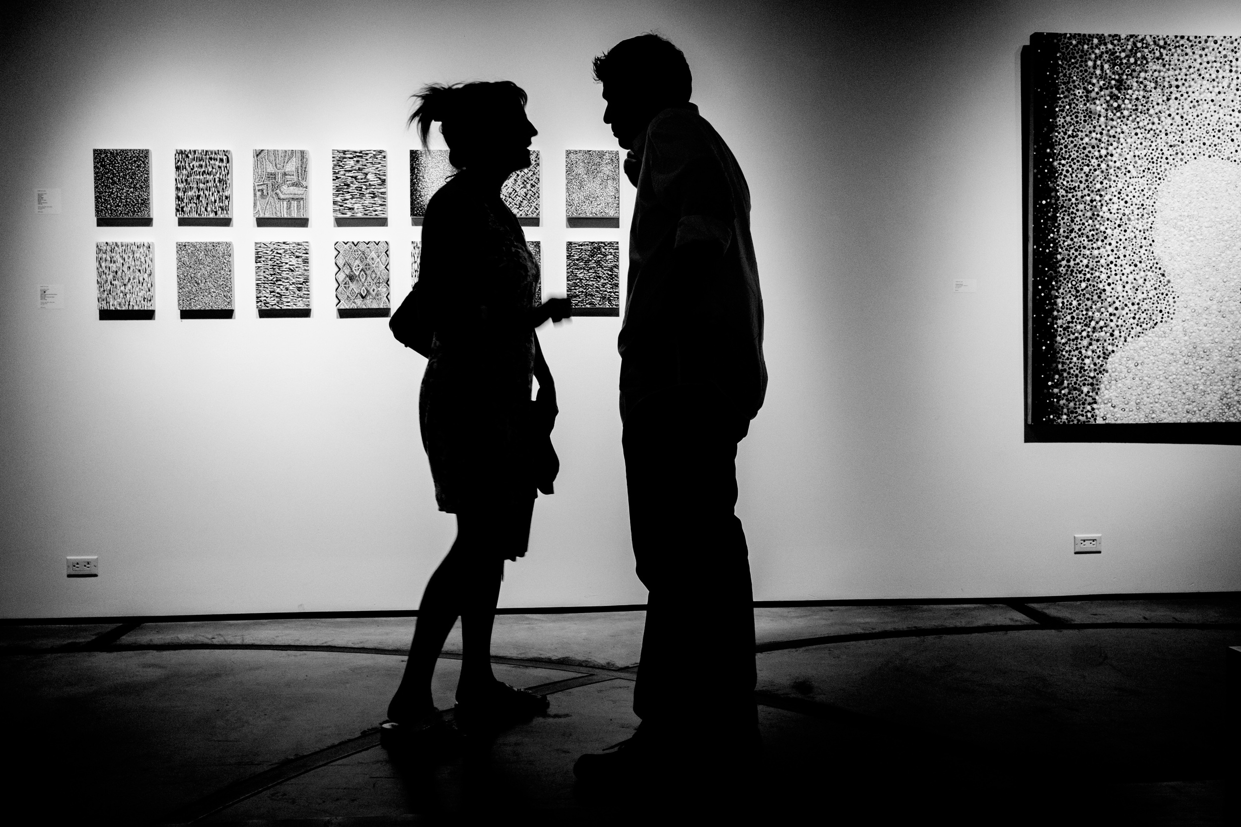 An indoor street shot from this Julys First Friday in the Cross Roads art district in down town Kansas City