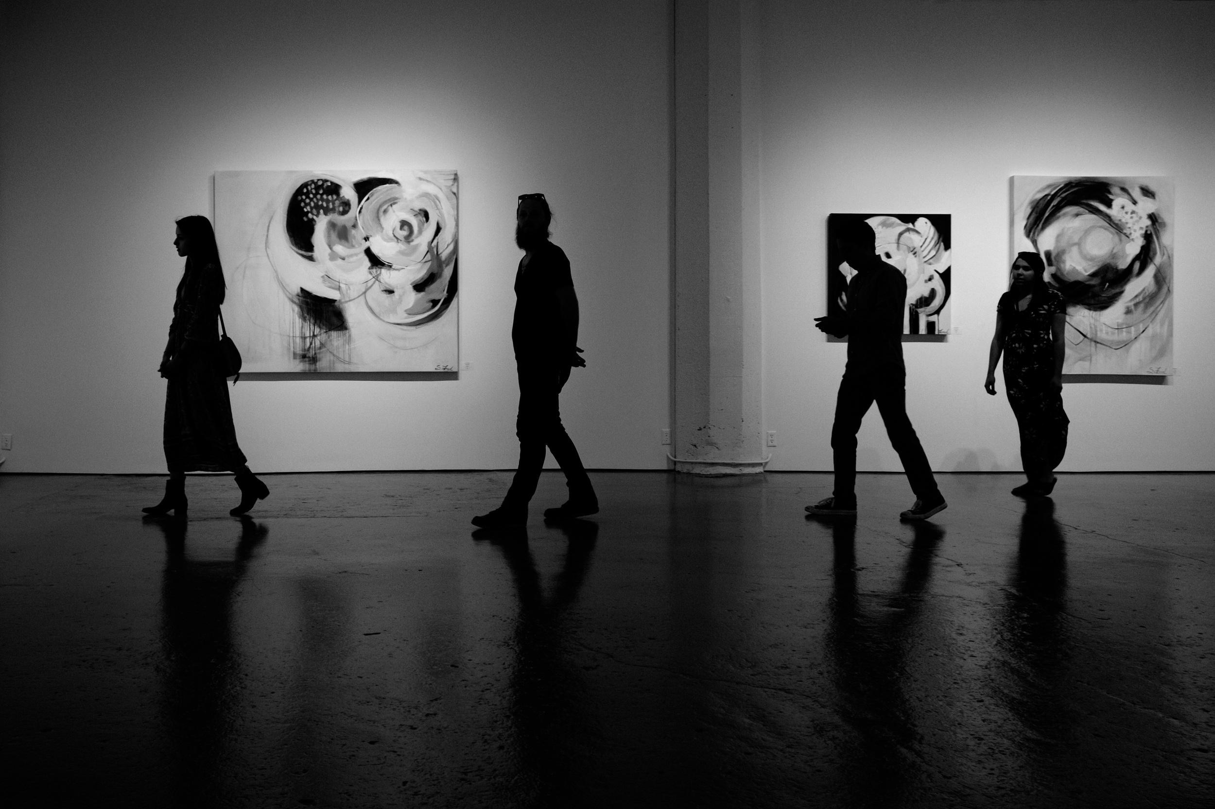 Taken from inside an art gallery in Kansas City Croosroads Art District.