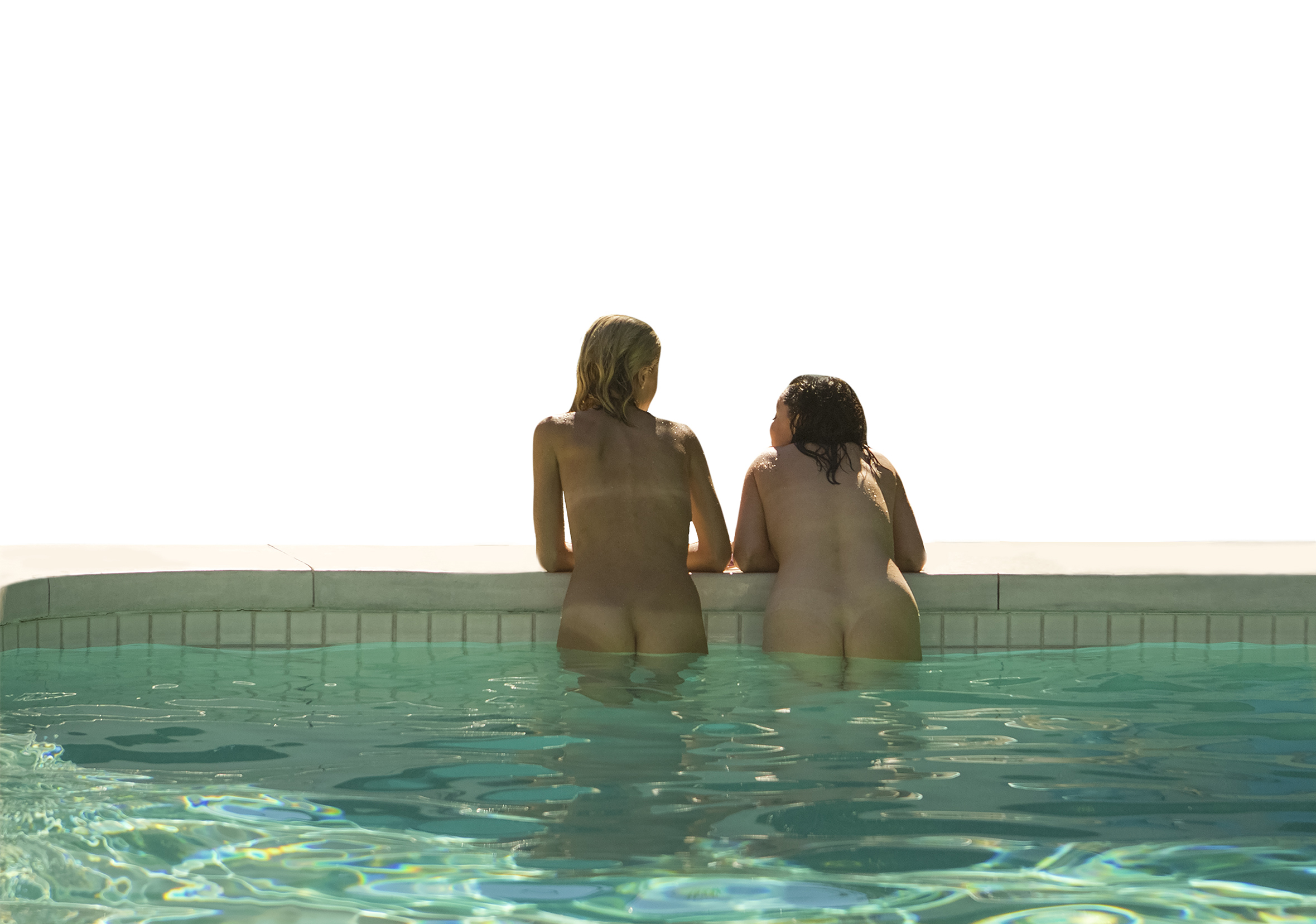 Two women in the pool
