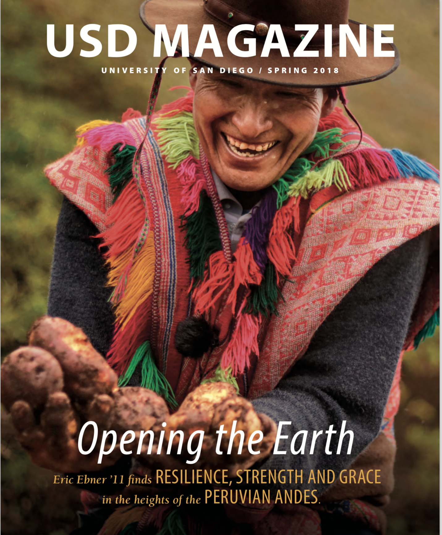 Opening the Earth was featured in the University of San Diego's USD Magazine Spring 2018 edition. Click below to read.