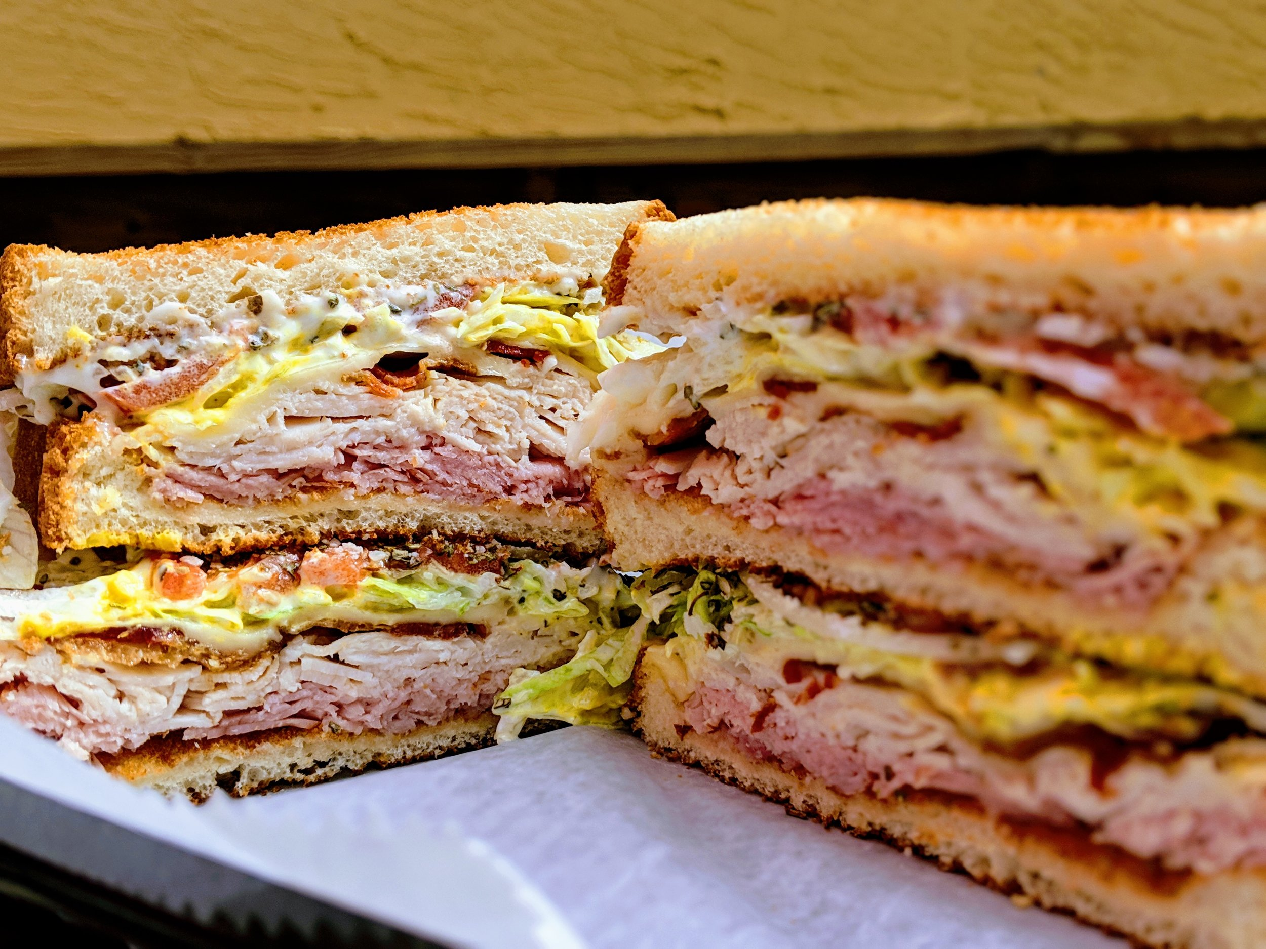 Dagwood's Deli Club Stacked with Mustard