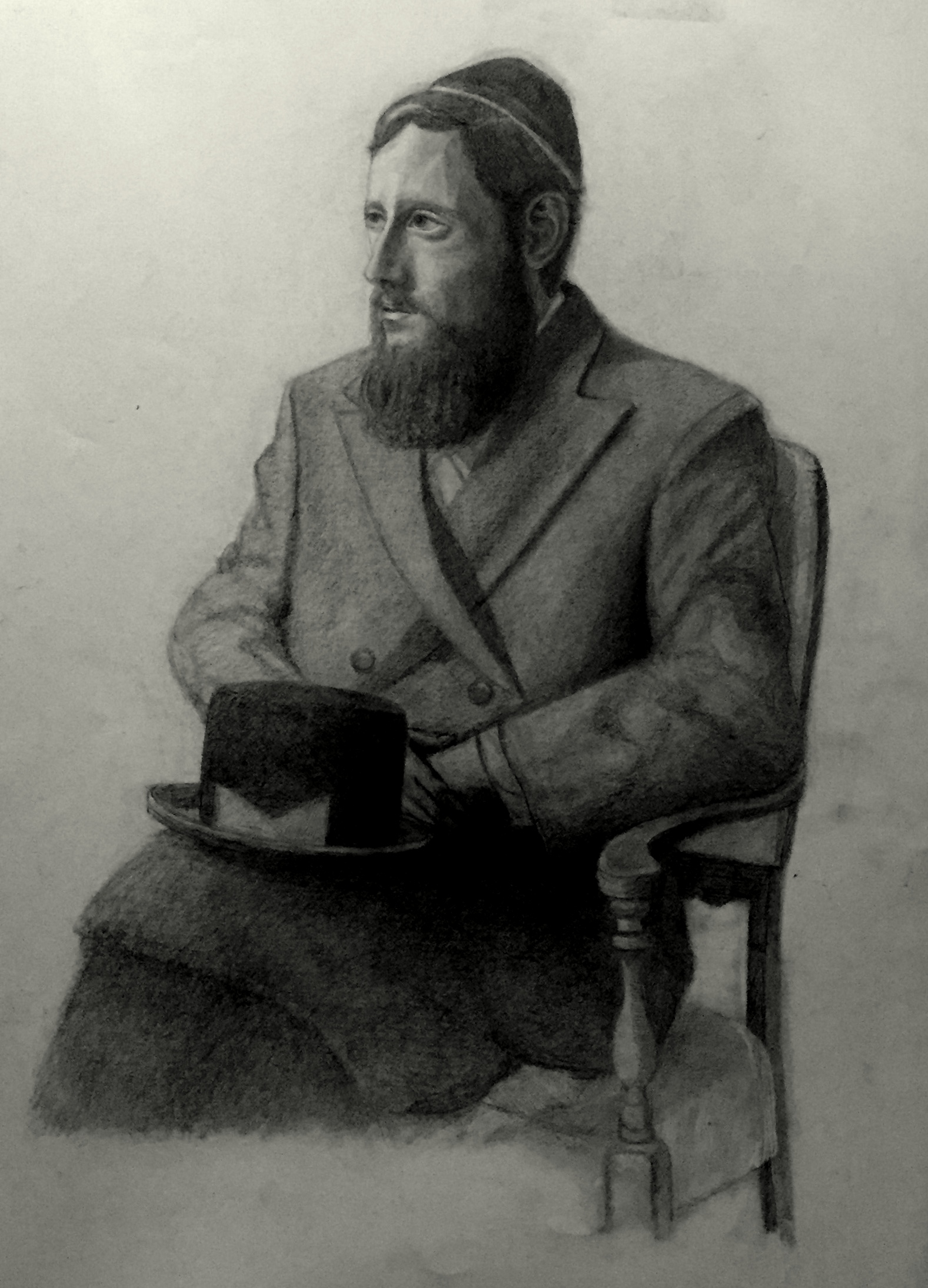 Hasidic Man with a Hat