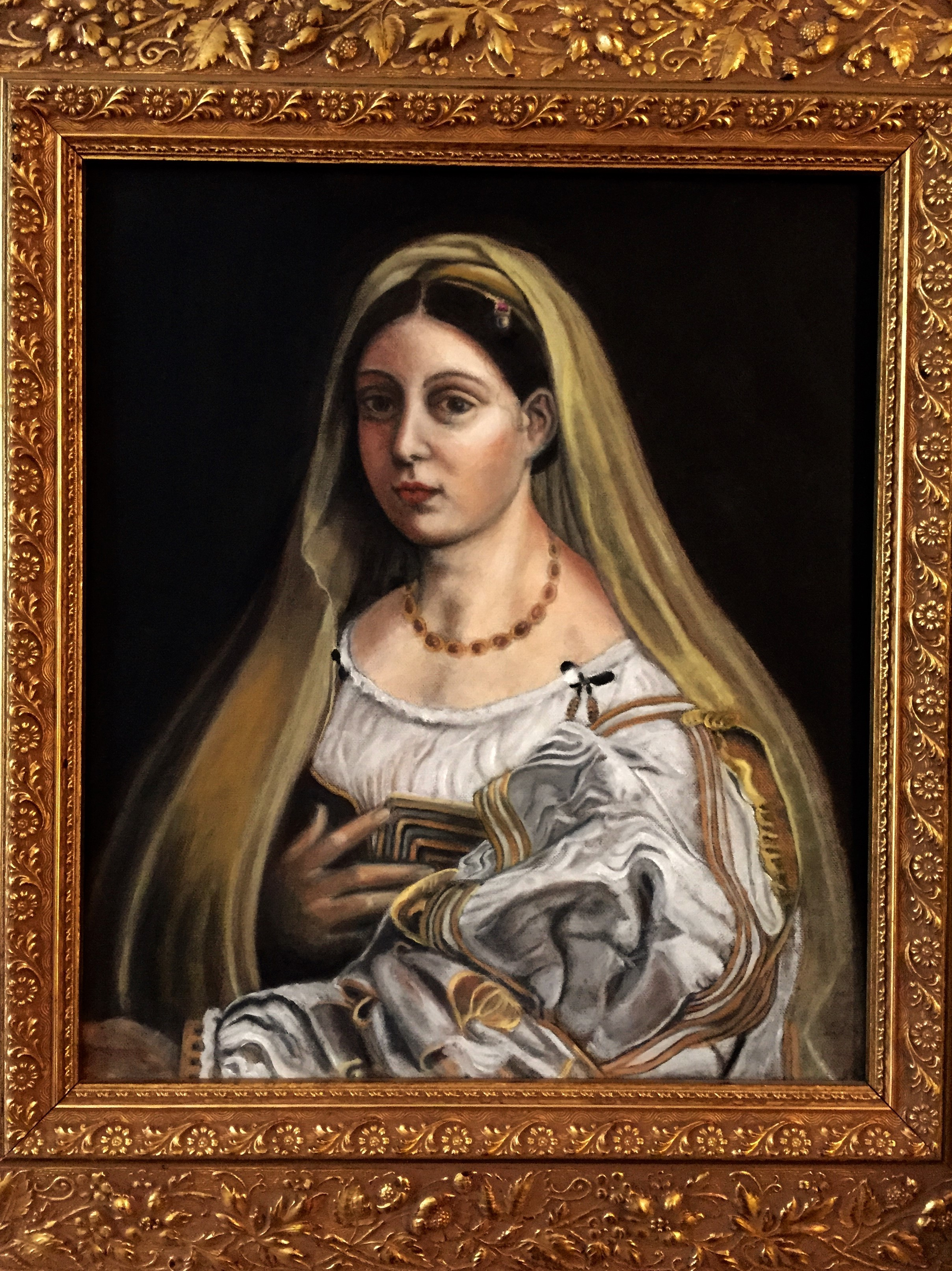 Oil study of Raphael's La Donna Velata