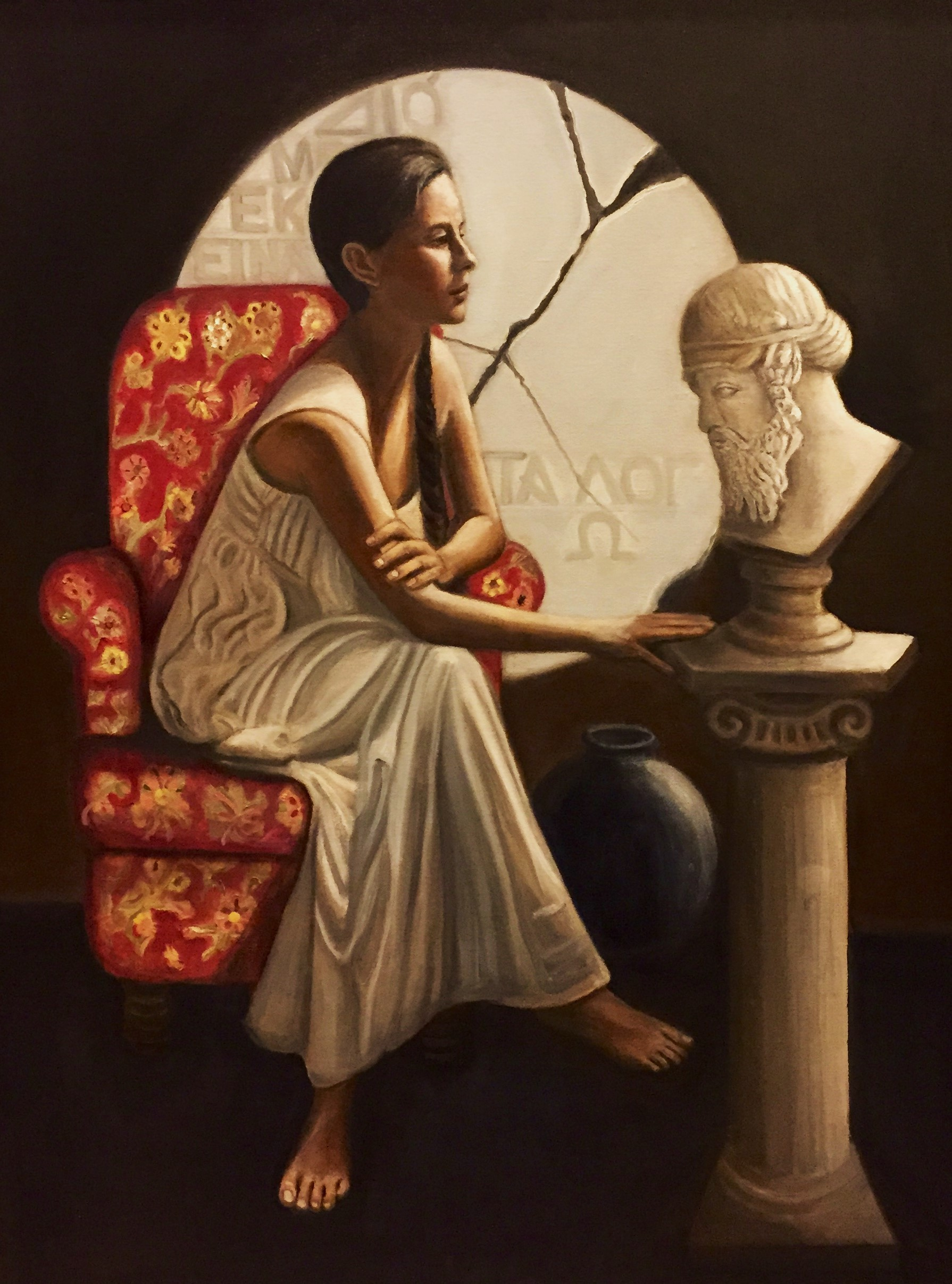 Hypatia Contemplating A Bust of Plato