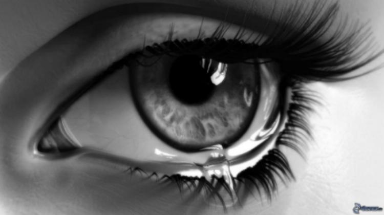 sorg och många tårar