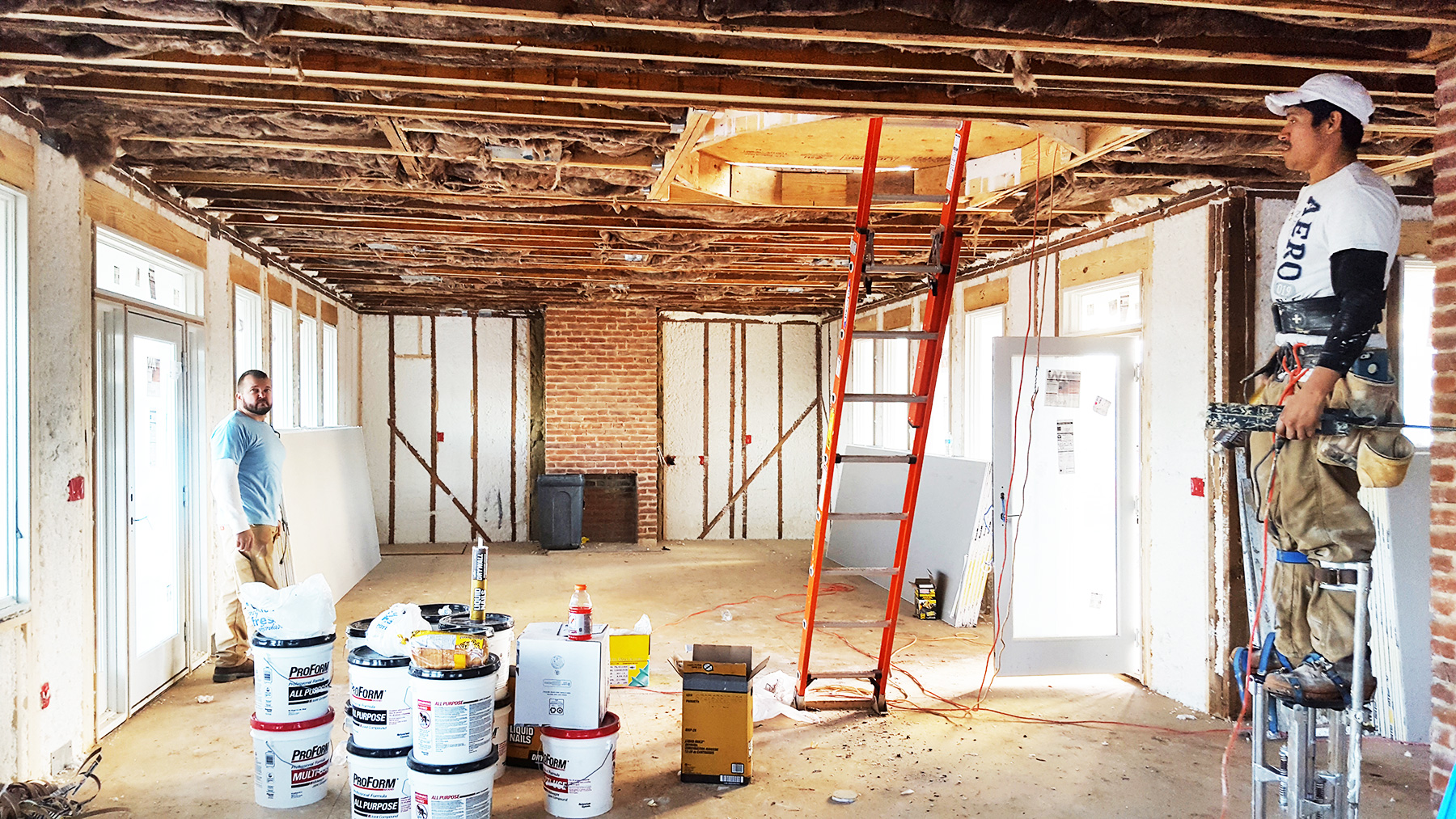 """THE HOUSE WAS INSULATED WITH SPRAYED """"SPIDER"""" FIBERGLASS IN THE WALLS & OPEN-CELL SPRAY-FOAM IN THE CRAWL & ATTIC."""