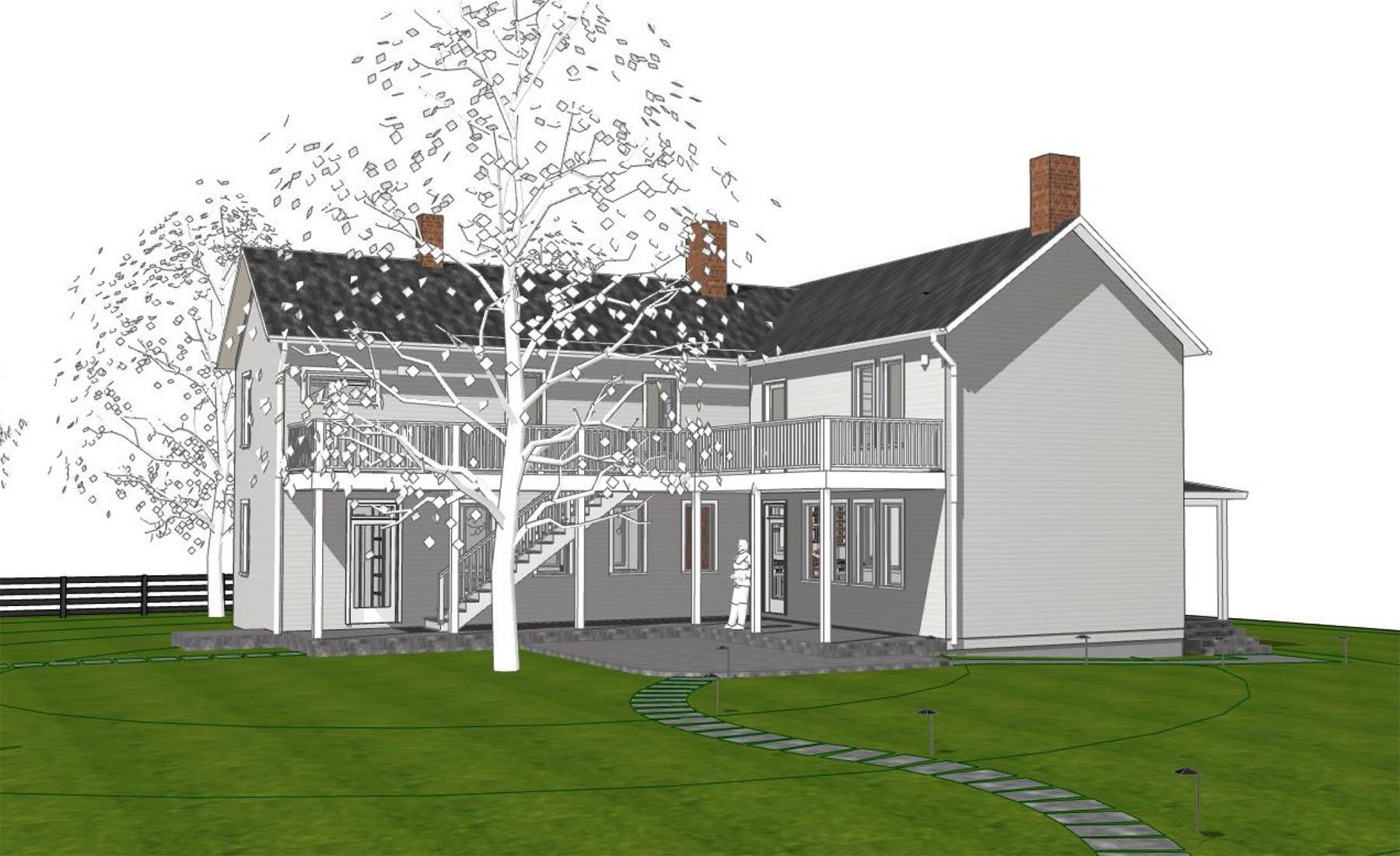 RENDERING OF PROPOSED SOUTH ELEVATION