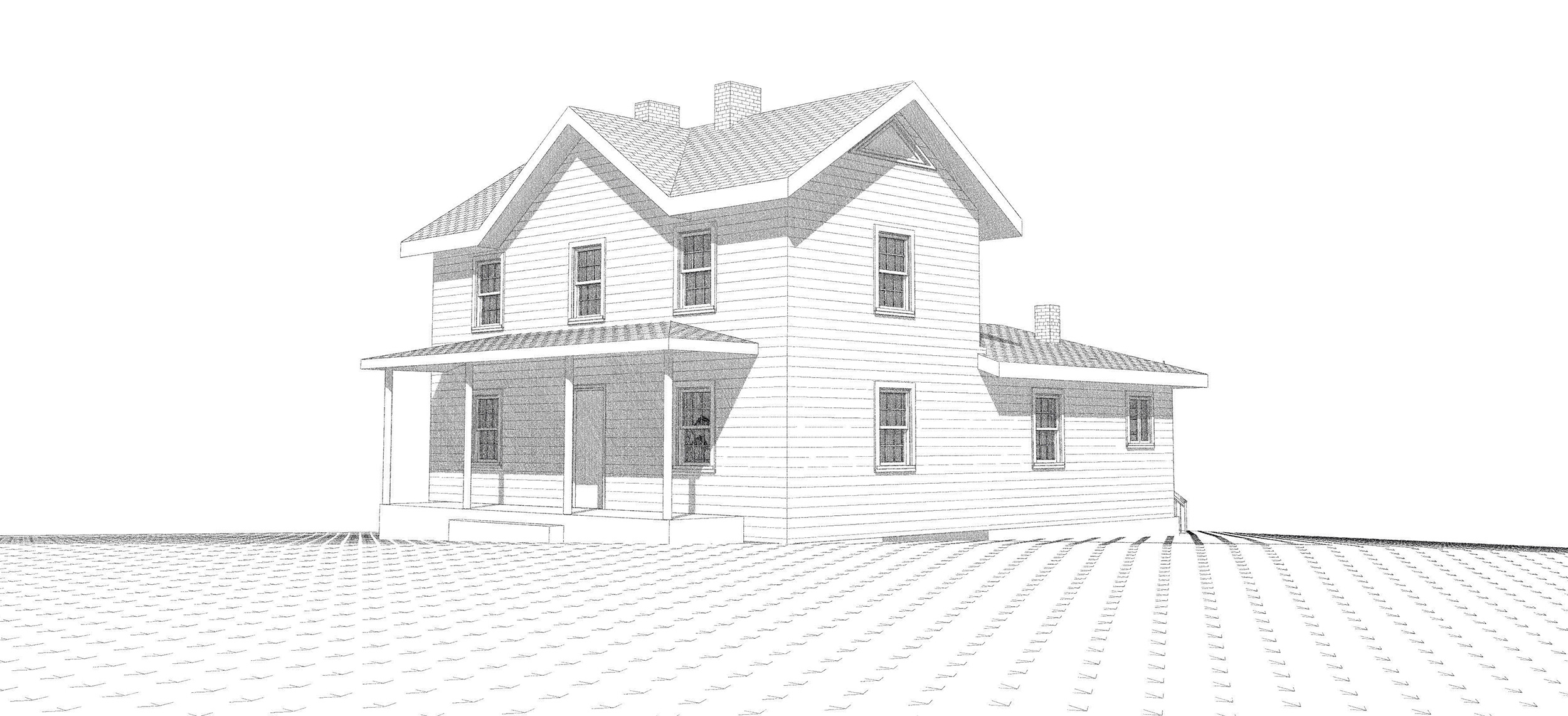 SKETCH OF HOUSE PRIOR TO RENOVATION