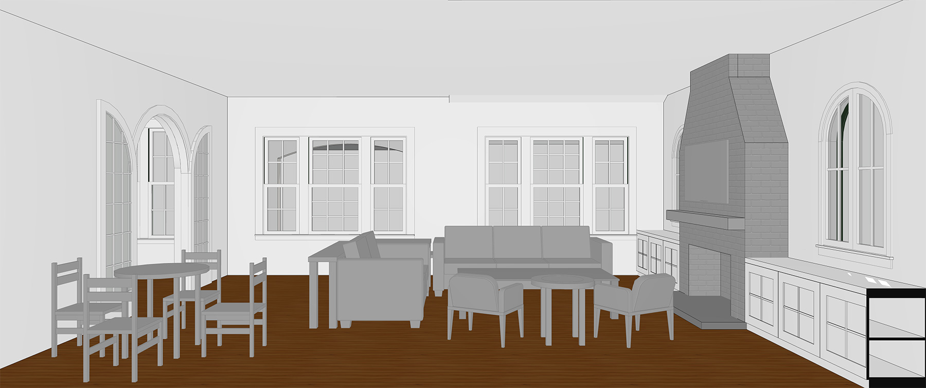 PROPOSED EXPANDED LIVING ROOM