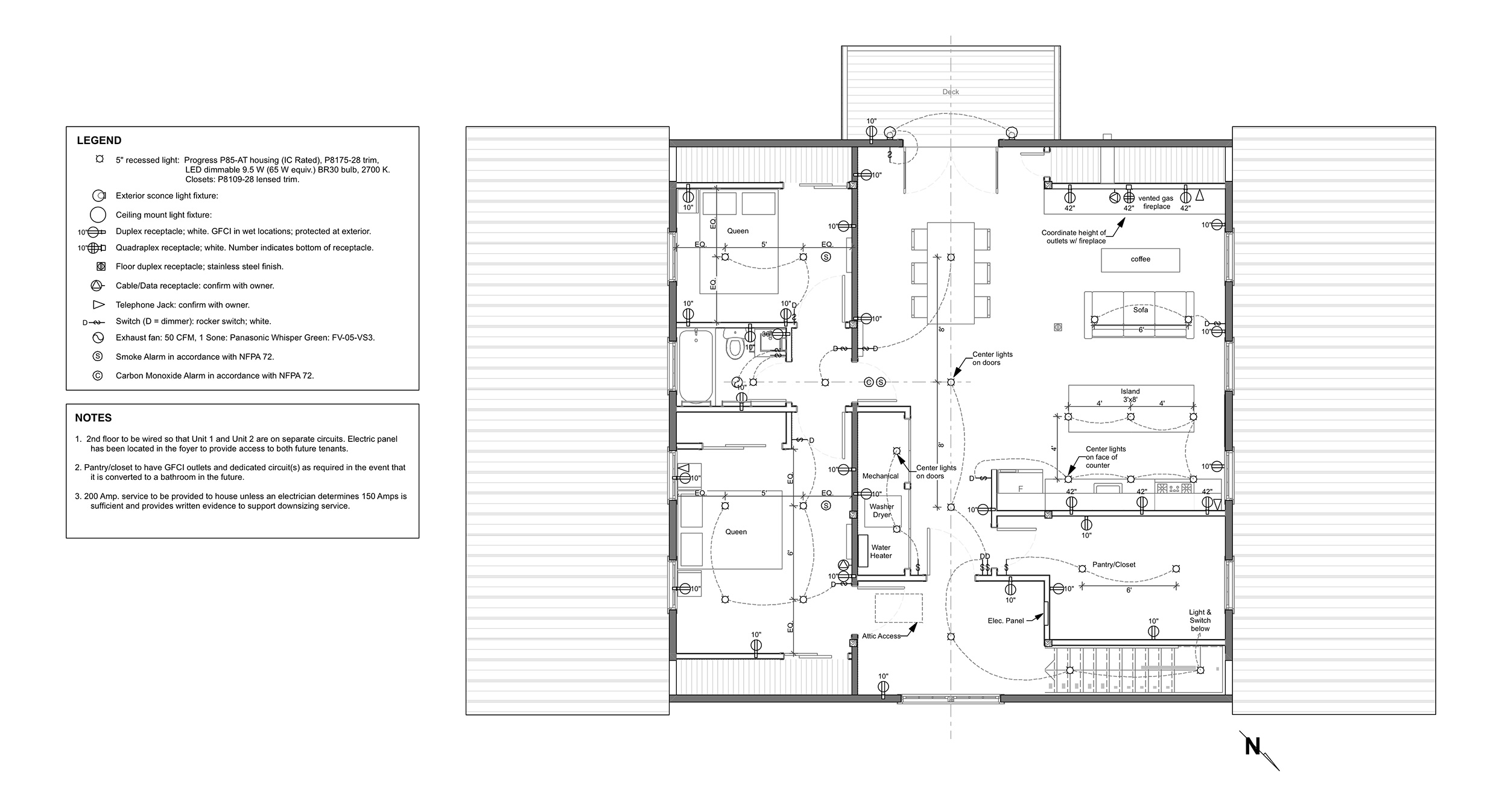 SECOND FLOOR POWER PLAN