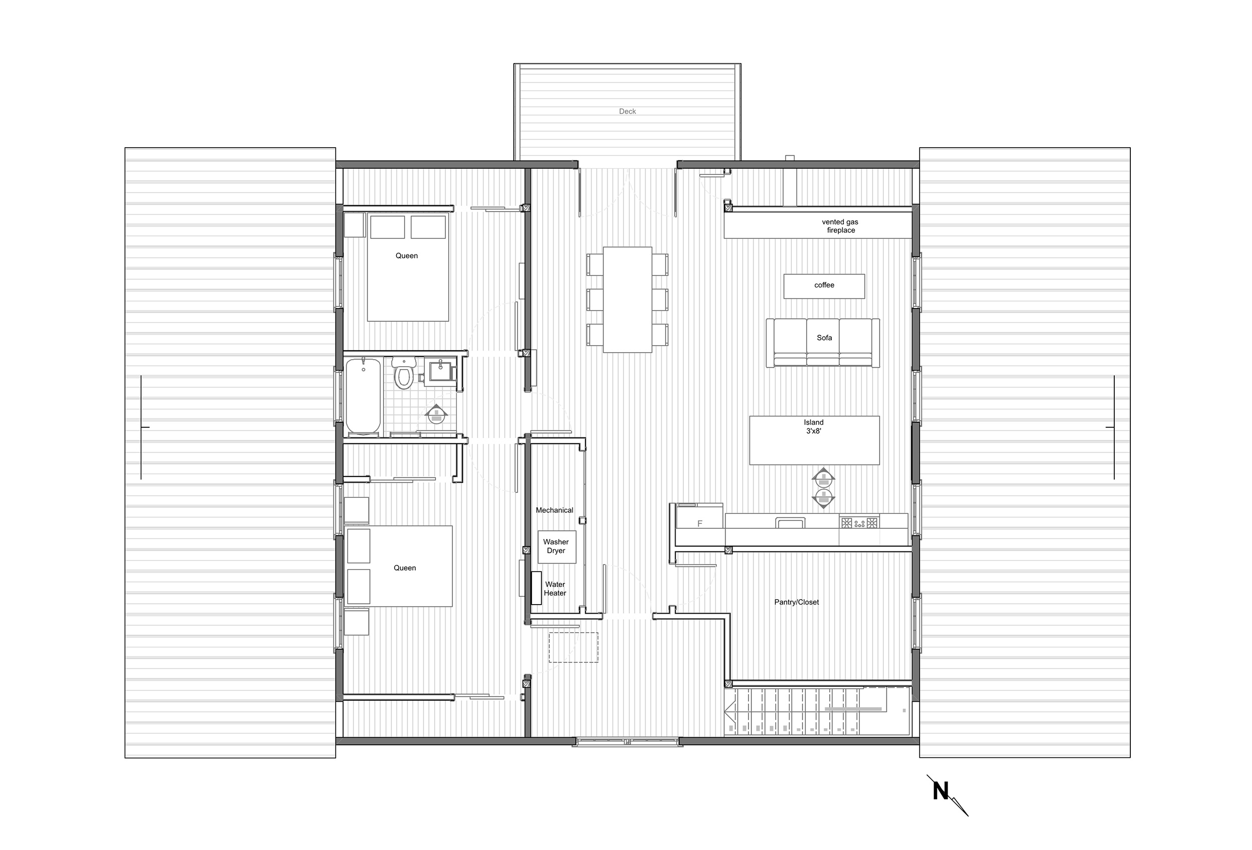 SECOND FLOOR PLAN - ONE UNIT