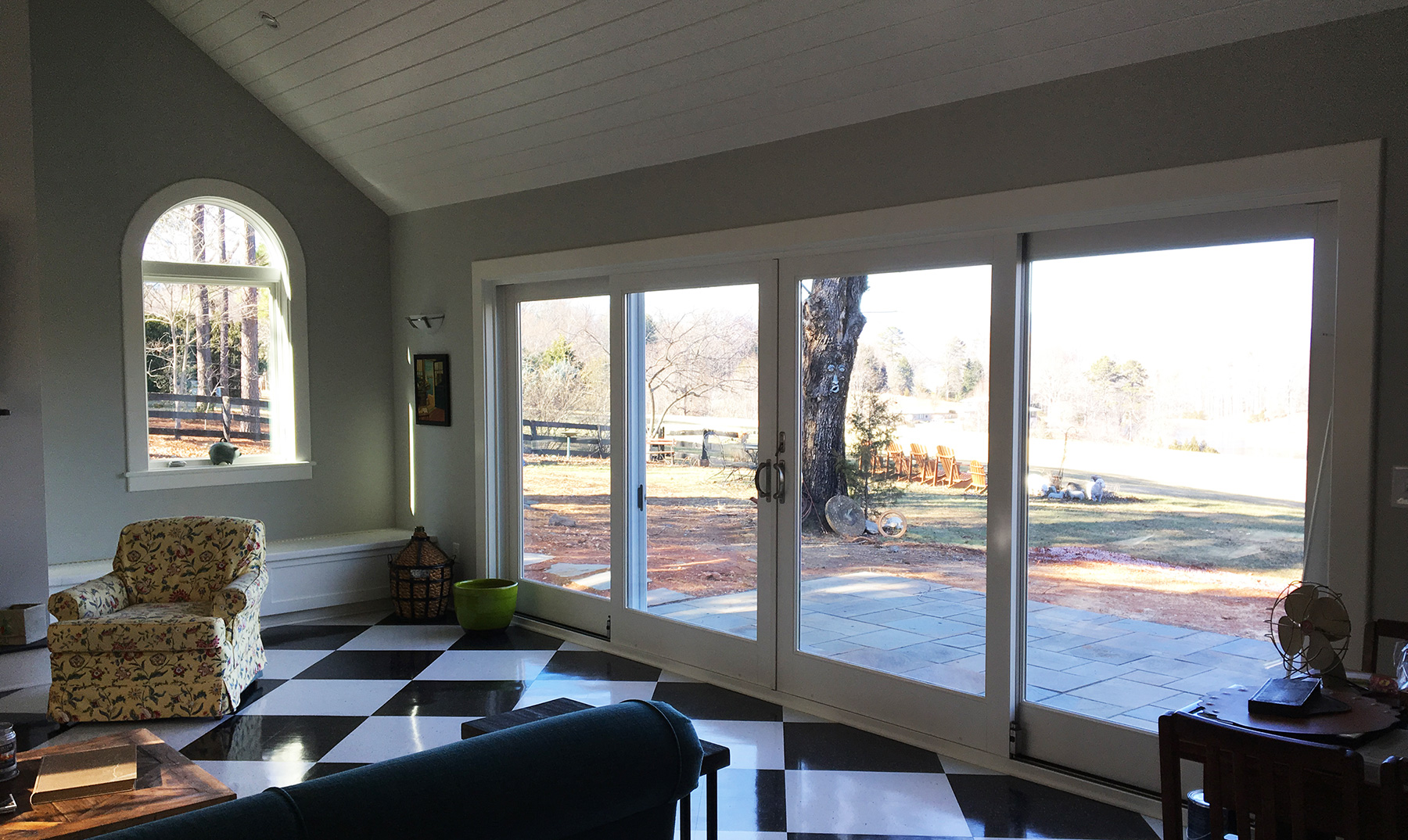 OVERSIZE SLIDING DOORS FOR VIEW AND ACCESS TO PATIO