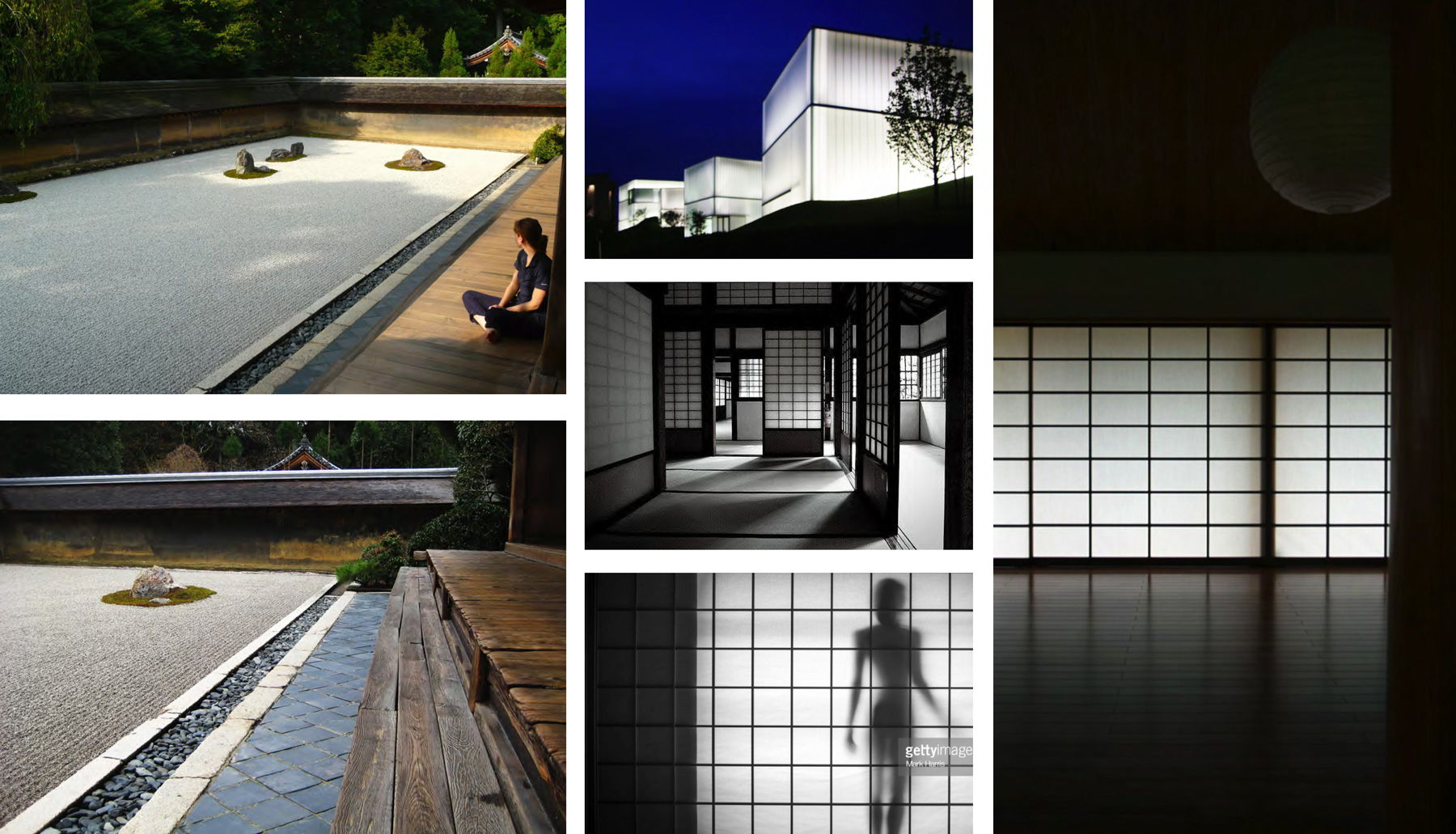 Precedents to incorporate a Japanese minimalist aesthetic.
