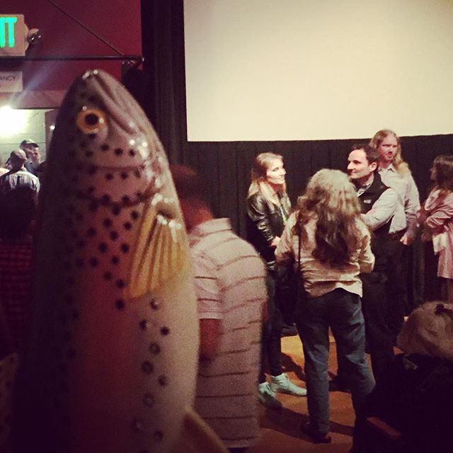 Still basking in the glow from our sold out premiere at @nwfilmforum ! Film lovers, friends, follow-up talk back... What more could a fish want? #afterglow #andafish #askmeanything #openingnight #withmysquad #filmmaking #soworthit